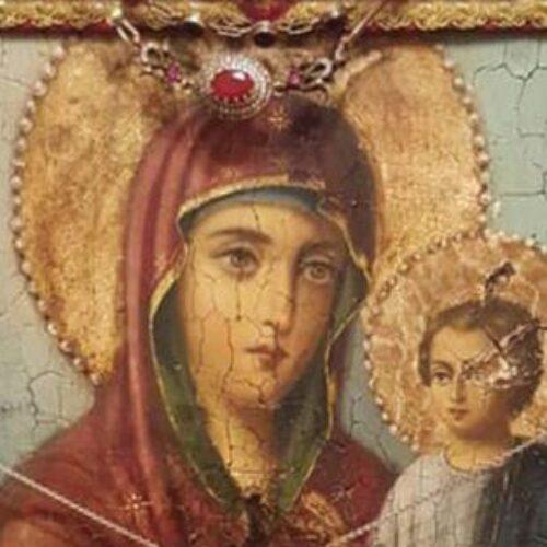 Η Μυροβλύζουσα Εικόνα της Παναγίας Οδηγήτριας στην Πατρίδα Ημαθίας για την πανήγυρη του Αγ. Νικολάου