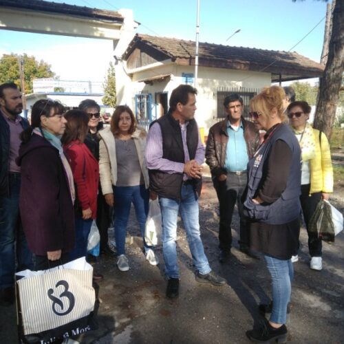 Επίσκεψη στους πρόσφυγες από το Εργατικό Κέντρο Νάουσας