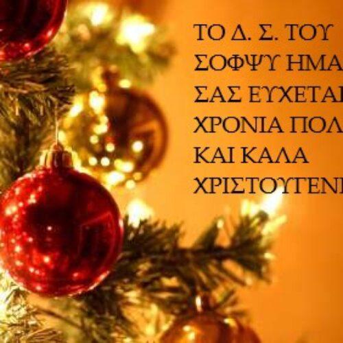 Χριστουγεννιάτικες ευχές από τον ΣΟΦΨΥ Ημαθίας