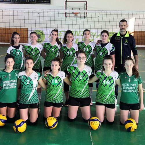 """Βόλεϊ Πρωτάθλημα Παγκορασίδων: ΓΑΣ """"Αλεξάνδρεια"""" - Ίκαρος Έδεσσας (2-3)"""
