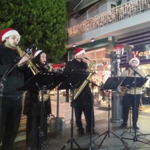 Χριστουγεννιάτικα σαξόφωνα απόψε στον πεζόδρομο της Αγοράς