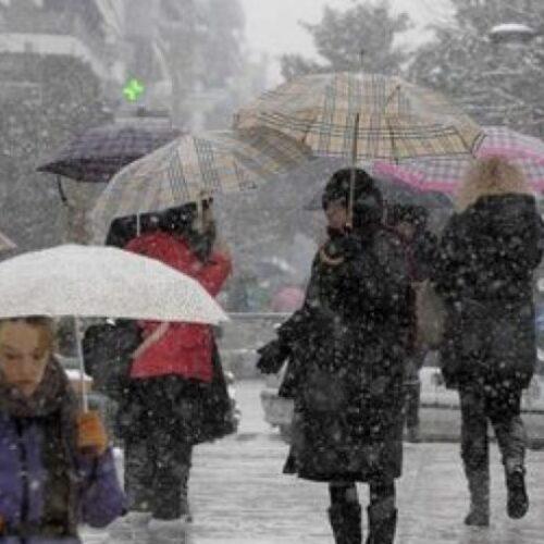 ΕΜΥ: Επιδείνωση του καιρού με αισθητή πτώση της θερμοκρασίας, θυελλώδεις ανέμους, ισχυρές βροχές και χιονοπτώσεις
