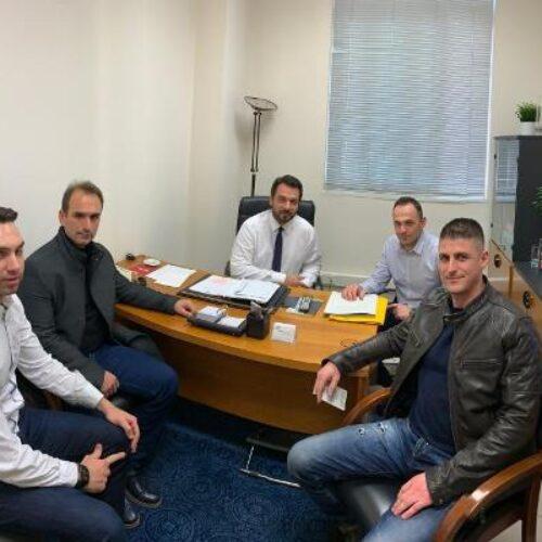 Συνάντηση του Τάσου Μπαρτζώκα με κλιμάκιο της Ένωσης Υπαλλήλων Πυροσβεστικού Σώματος της Περιφέρειας Κ. Μακεδονίας