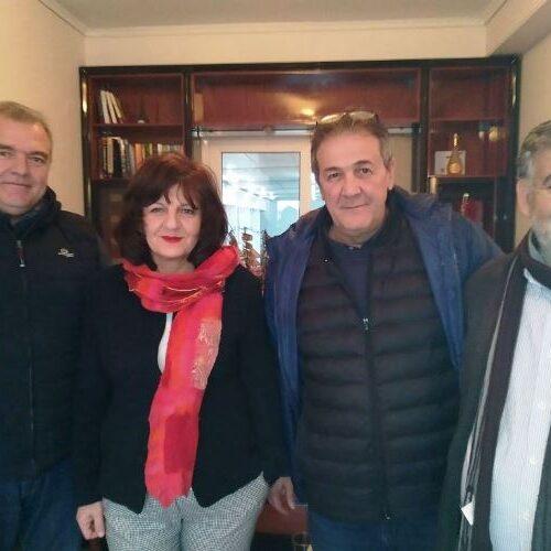 Φρ. Καρασαρλίδου: Επίσκεψη σε τοπικούς επιχειρηματίες και μέλη της διοίκησης του Επιμελητηρίου