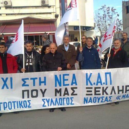 """Κάλεσμα σε συλλαλητήριο από τον Αγροτικό Σύλλογο Νάουσας """"Μαρίνος Αντύπας"""""""