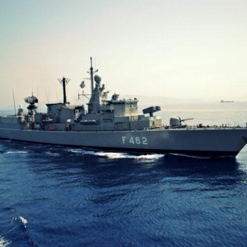 """Και η φρεγάτα Κουντουριώτης """"δίπλα"""" στο τουρκικό σκάφος Oruç Reis"""
