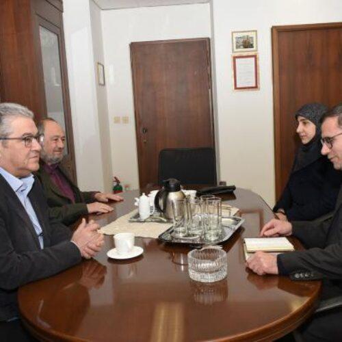 Συνάντηση Κουτσούμπα με τον πρέσβη του Ιράν στην Αθήνα