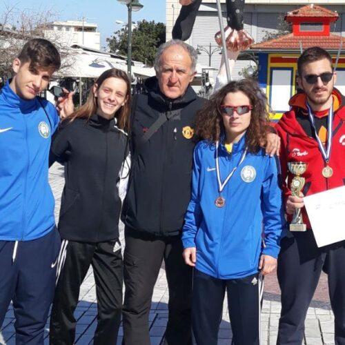 Οι Βεροιώτες: Στάμος - χρυσό, Μπαρμπαρούση - αργυρό, Μποχώρη - χάλκινο μετάλλιο στον Πανελλήνιο Αγώνα Βάδην στην Πάτρα