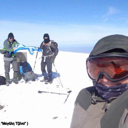 Μεγάλη Τζένα - Ανάβαση στην χιονισμένη κορυφή και πέρασμα μέσα από το Φαράγγι της Νότια