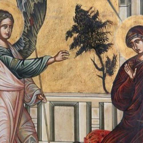 """""""Ο Ευαγγελισμός της Θεοτόκου"""" δια χειρός Συμεών"""