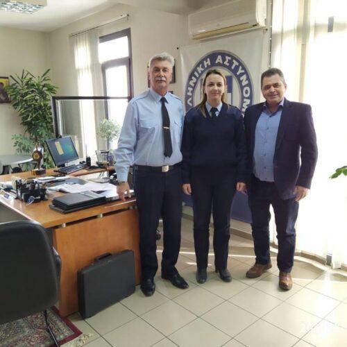 Επίσκεψη του Αντιπεριφερειάρχη στον Αστυνομικό Διευθυντή Ημαθίας