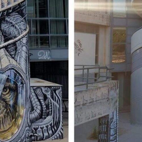 Έσβησαν γκράφιτι του διάσημου street artist WD στο Πολυτεχνείο για να βάψουν τη σκάλα γκρι