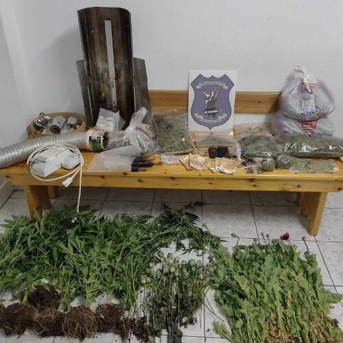 Από το Τμήμα Ασφάλειας Πολύγυρου συνελήφθησαν 2 άτομα για καλλιέργεια και διακίνηση ναρκωτικών ουσιών
