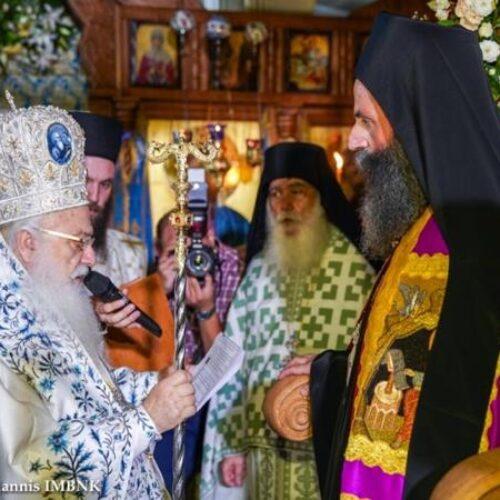 Ενθρόνιση του Καθηγουμένου της Ιεράς Μονής Παναγίας Καλλίπετρας Αρχιμ. Παλαμά (Κυριλλίδη) Καλλιπετρίτη
