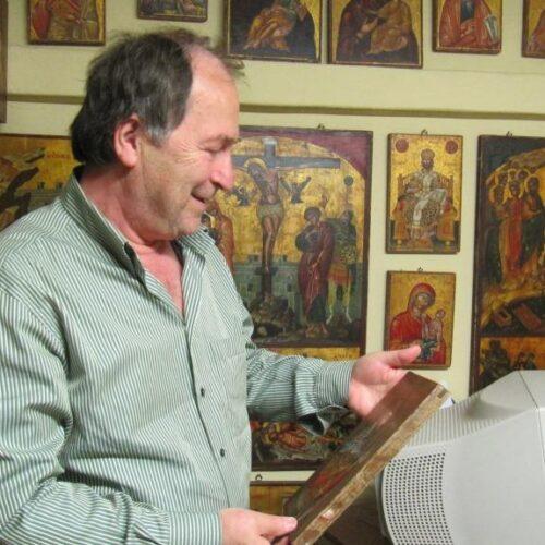Ο αγιογράφος Συμεών Ματσκάνης. Μετουσιώνοντας το χρώμα σε πνεύμα -  Αναδημοσίευση συνέντευξης μ' αφορμή το θάνατό του