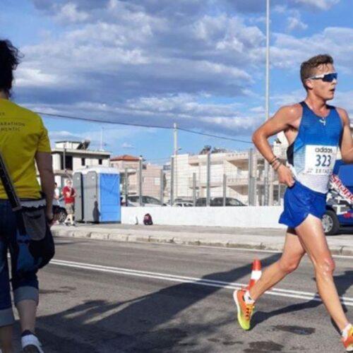 Οι βεροιώτες αθλητές Άνθιμος Κελεπούρης και Τάσος Στάμος, αντίστοιχα 3ος και 4ος στα 20 χλμ  στο Παν/νιο βάδην Ανδρών