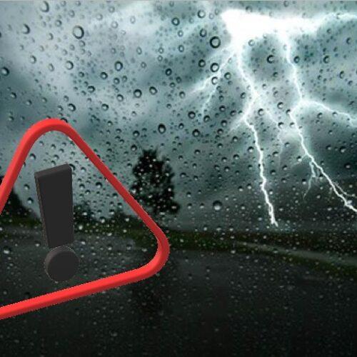 Έκτακτο δελτίο επιδείνωσης καιρού: Θυελλώδεις άνεμοι, καταιγίδες, χαλαζοπτώσεις