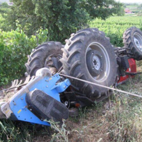 Πιερία: Ανατροπή τρακτέρ με νεκρό τον 88χρονο οδηγό