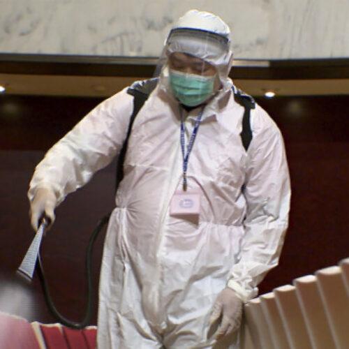 Εργασίες απολύμανσης στην Τεχνική Υπηρεσία Δήμου Βέροιας λόγω κρούσματος κορωνοϊού