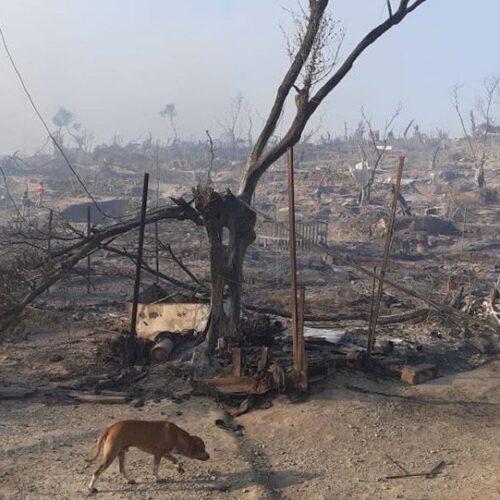 ΚΥΤ Μόριας: Ερείπια μετά την πυρκαγιά, άστεγοι χιλιάδες πρόσφυγες σε δρόμους και βουνά (photos/video)