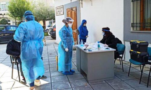 Στην περιοχή του Γηπέδου Νάουσας κλιμάκιο του ΕΟΔΥ για rapid tests, Τετάρτη 25 Νοεμβρίου