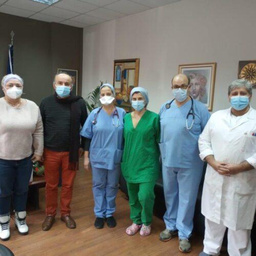 Εθελοντές ιδιώτες ιατροί στο Νοσοκομείο Βέροιας - Ευχαριστήριο