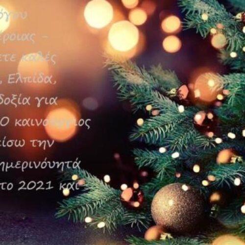 Χριστουγεννιάτικες ευχές από τον Σύλλογο Καρκινοπαθών Βέροιας - Ημαθίας