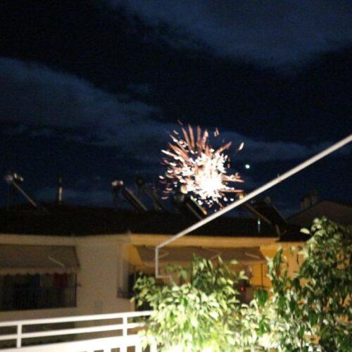 Με πυροτεχνήματα υποδέχτηκε η Βέροια τη νέα χρονιά
