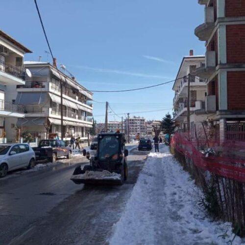 Βέροια: Απολογισμός αποχιονιστικού έργου του Δήμου