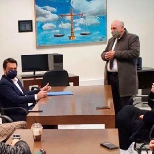 Συνάντηση με το ΔΣ του Δικηγορικού Συλλόγου Ημαθίας πραγματοποίησε ο Τάσος Μπαρτζώκας