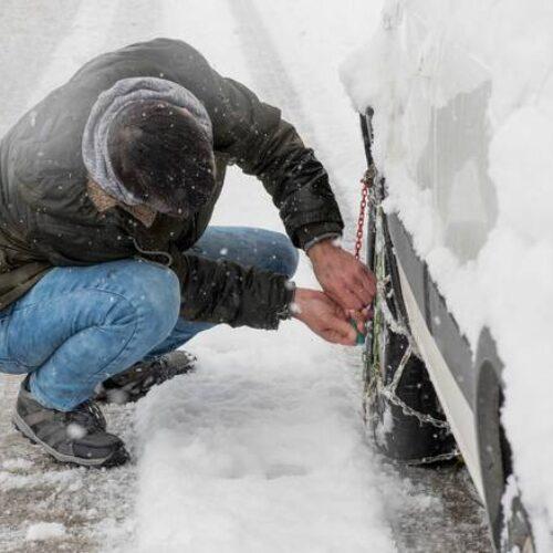 Κυριακή,14-2-2021 Ώρα 20.00. Οδικά σημεία της Κ. Μακεδονίας που χρειάζονται αλυσίδες - Απαγόρευση κυκλοφορίας φορτηγών