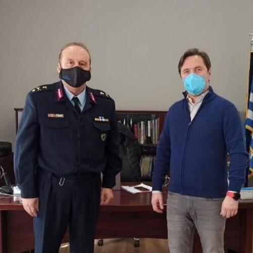 Συνάντηση Δημάρχου Νάουσας με τον νέο Αστυνομικό Διευθυντή Ημαθίας Ταξίαρχο Γιώργο Αδαμίδη
