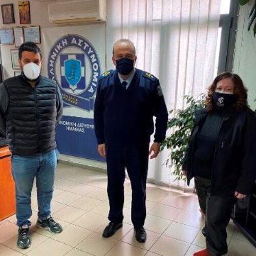 Συνάντηση μελών του ΔΣ του Εμπορικού Συλλόγου Βέροιας με τον Διευθυντή Αστυνομίας Ημαθίας Ταξίαρχο Γεώργιο Αδαμίδη
