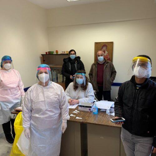 Ολοκληρώθηκαν τα  rapid test στην Κοινότητα Αγίου Γεωργίου Δήμου Βέροιας - 3,8% η θετικότητα