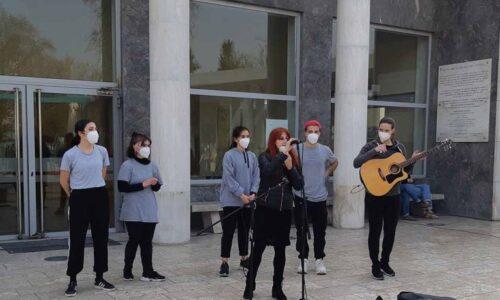 """Καλλιτεχνικό δρώμενο στο Νοσοκομείο Παπανικολάου από τις ομάδες """"FireArt"""" και """"Β+6"""", Δευτέρα 8 Μαρτίου"""