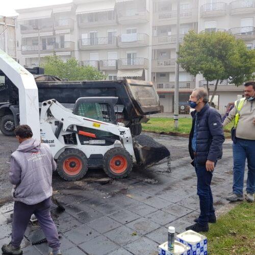 Δήμος Βέροιας: Σε εξέλιξη εργασίες ανακατασκευής των γηπέδων μπάσκετ στη Βίλα Βικέλα