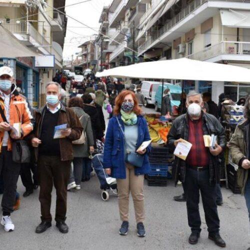 Αντιπροσωπεία του ΣΥΡΙΖΑ στη λαϊκή αγορά Νάουσας και Βέροιας
