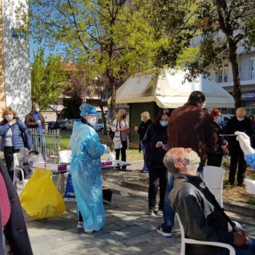 Δήμος Βέροιας: Ολοκληρώθηκαν τα rapid test στην Πλατεία Ωρολογίου