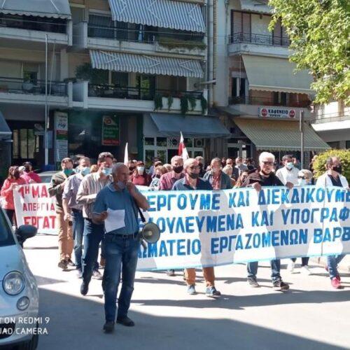 Νάουσα: Μαχητική η πρωτομαγιάτικη συγκέντρωση του Εργατικού Κέντρου
