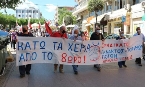 Βέροια: ΠΑΜΕ για την Πρωτομαγιά / Κάτω τα χέρια από το 8ωρο - Όχι στην καταπίεση, στη φτώχεια, στους πολέμους