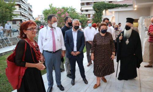 """Βέροια - Αρχαιολογικό Μουσείο: Εγκαινιάστηκε """"Ο τοίχος της μνήμης"""" με παρούσα την Υπουργό Πολιτισμού"""