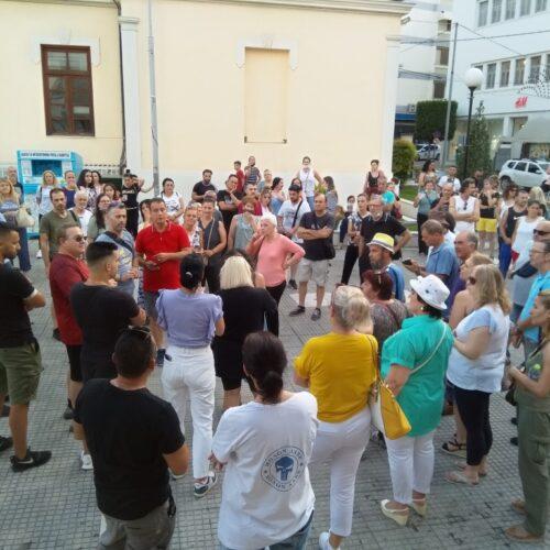 Και στη Βέροια χθες συλλαλητήριο κατά των υποχρεωτικών εμβολιασμών