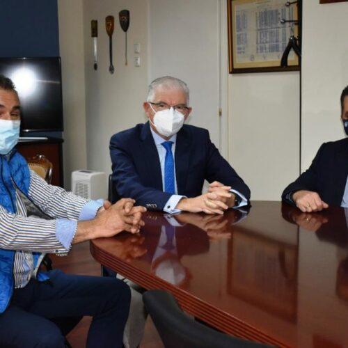 Σύσκεψη με την παρουσία του Προέδρου του ΕΛΓΑ στο Γραφείο του Αντιπεριφερειάρχη Ημαθίας