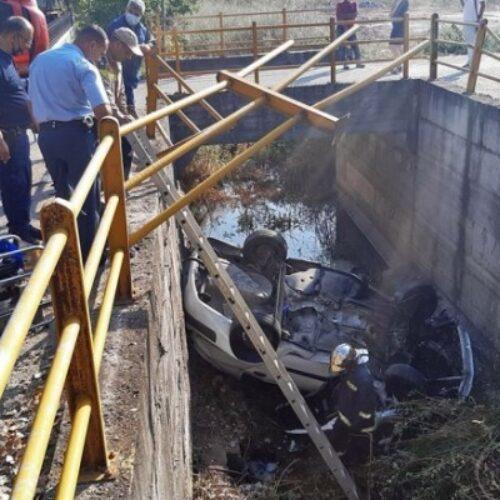 Σε αρδευτικό κανάλι εντοπίστηκε ΙΧ στην Πιερία / Νεκρός ο οδηγός