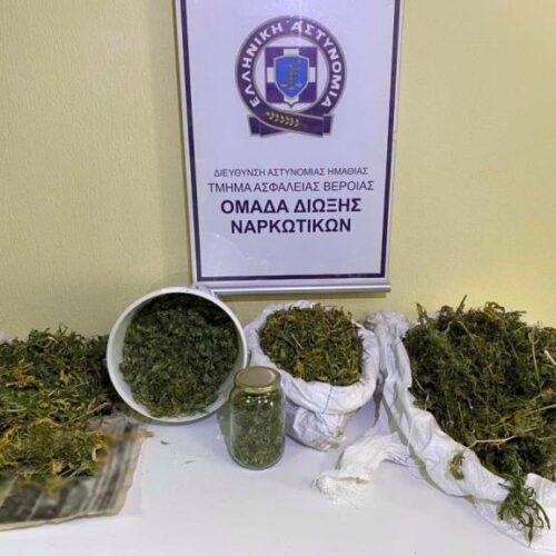 Από το Τμήμα Ασφάλειας Βέροιας συνελήφθη άνδρας για ναρκωτικά