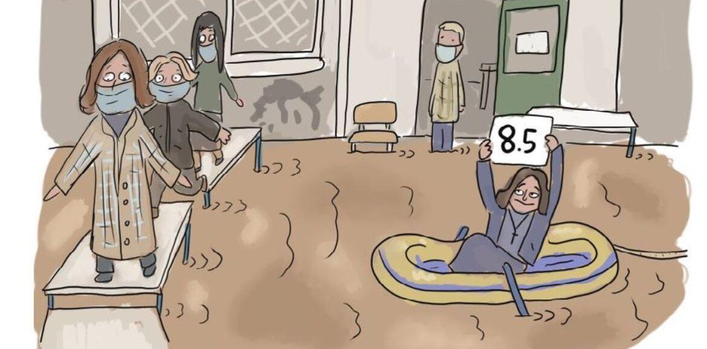 """Οι γελοιογράφοι σχολιάζουν: """"Η... εκπαιδευτική αξιολόγηση"""" - Αντώνης Βαβαγιάννης"""