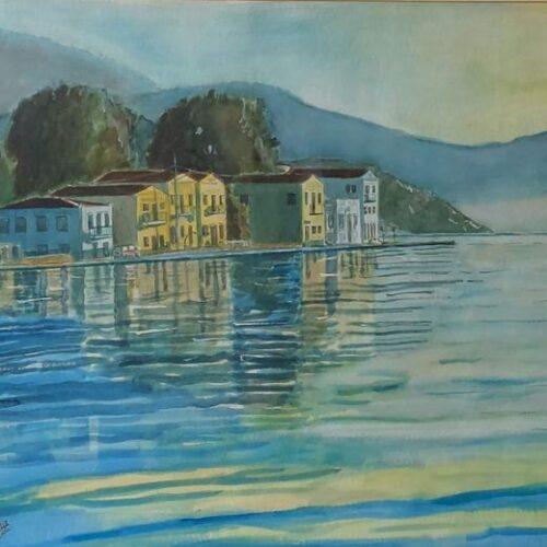 """Στέργιος Μποζίνης: Δύο ζωγραφικοί πίνακες / """"Καστελλόριζο. Όταν χαράζει"""" - """"Φθινοπωρινή Ρώμη"""""""
