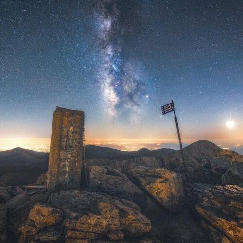 Το Σκήπτρο των Θεών... / Ο Γαλαξίας μας από την κορυφή του Ολύμπου