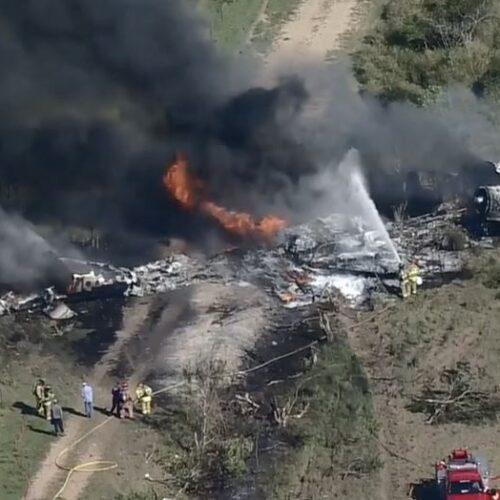 Αεροσκάφος με 21 επιβαίνοντες κατέπεσε στο Τέξας /  Οι επιβάτες πρόλαβαν και το εγκατέλειψαν