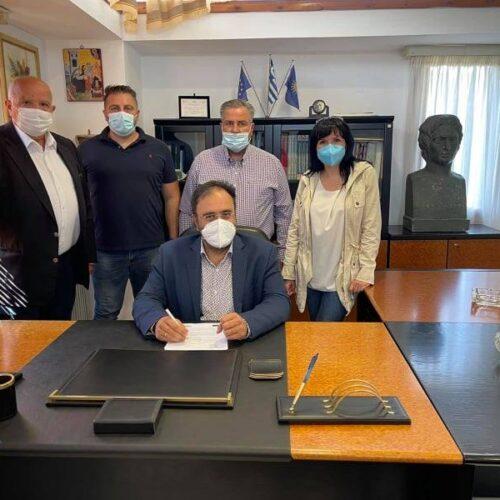 Δήμος Βέροιας: Υπεγράφη η σύμβαση για το δίκτυο αποχέτευσης στη Βεργίνα
